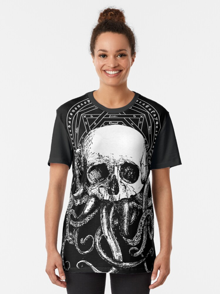 Alternate view of Pieces of Cthulhu  Graphic T-Shirt