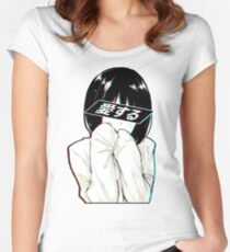 LOVE (Japanese) - Sad Japanese Aesthetic  Women's Fitted Scoop T-Shirt