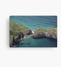 Carrick-a-Rede Rope Bridge From The Air Canvas Print