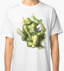 """Selfie!"" Teenage Mutant Ninja Turtles Digitally Colored Pencil Drawing Classic T-Shirt"