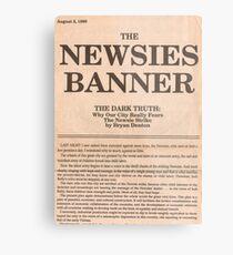 Newsies Banner Tote bag Metal Print