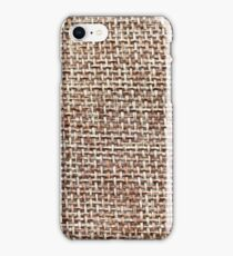 Woven textured background iPhone Case/Skin