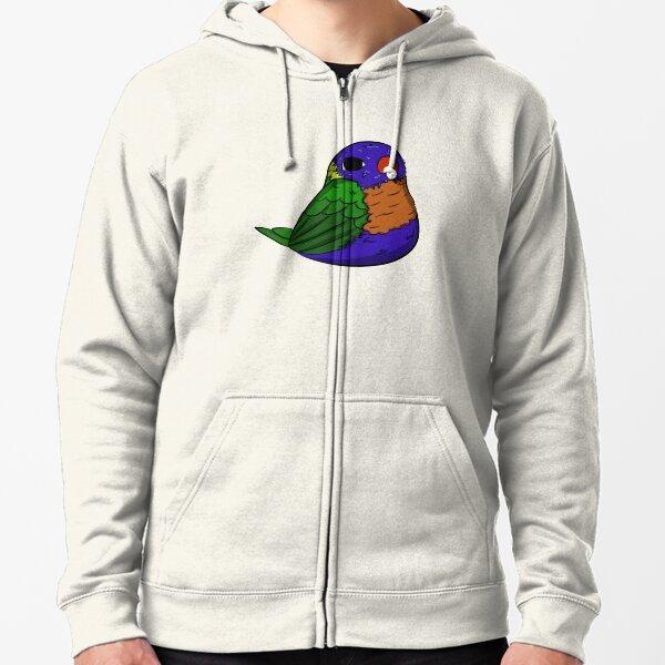 Lorikeet (rainbow) Zipped Hoodie