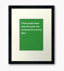 A Merrier Place - White Framed Print