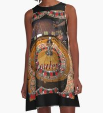 casino roulette wheel and table A-Line Dress