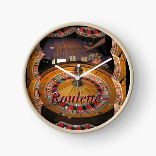 casino roulette wheel and table Clock