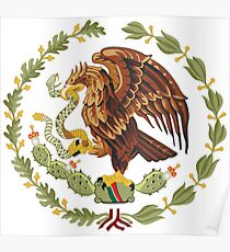 Mexican Eagle And Snake  Poster