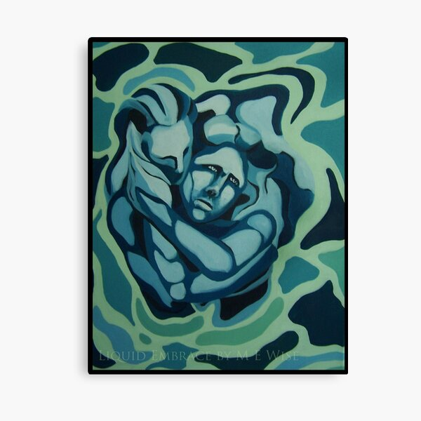 Liquid Embrace by M E Wise Canvas Print