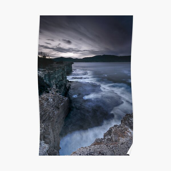 Dusk on Tasman Coast Poster