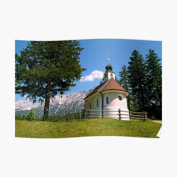 Aussteigen im charmanten Dorf Mittenwald Poster