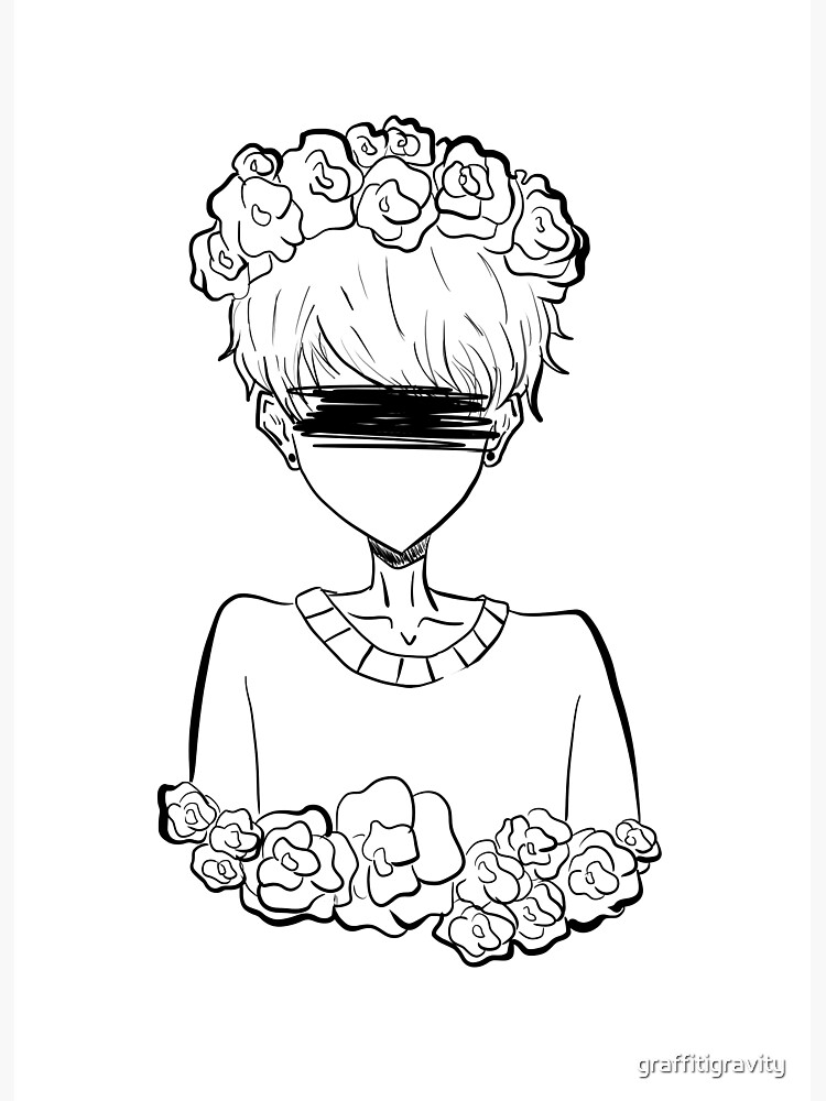 Aesthetic Tumblr Rose Boy by graffitigravity