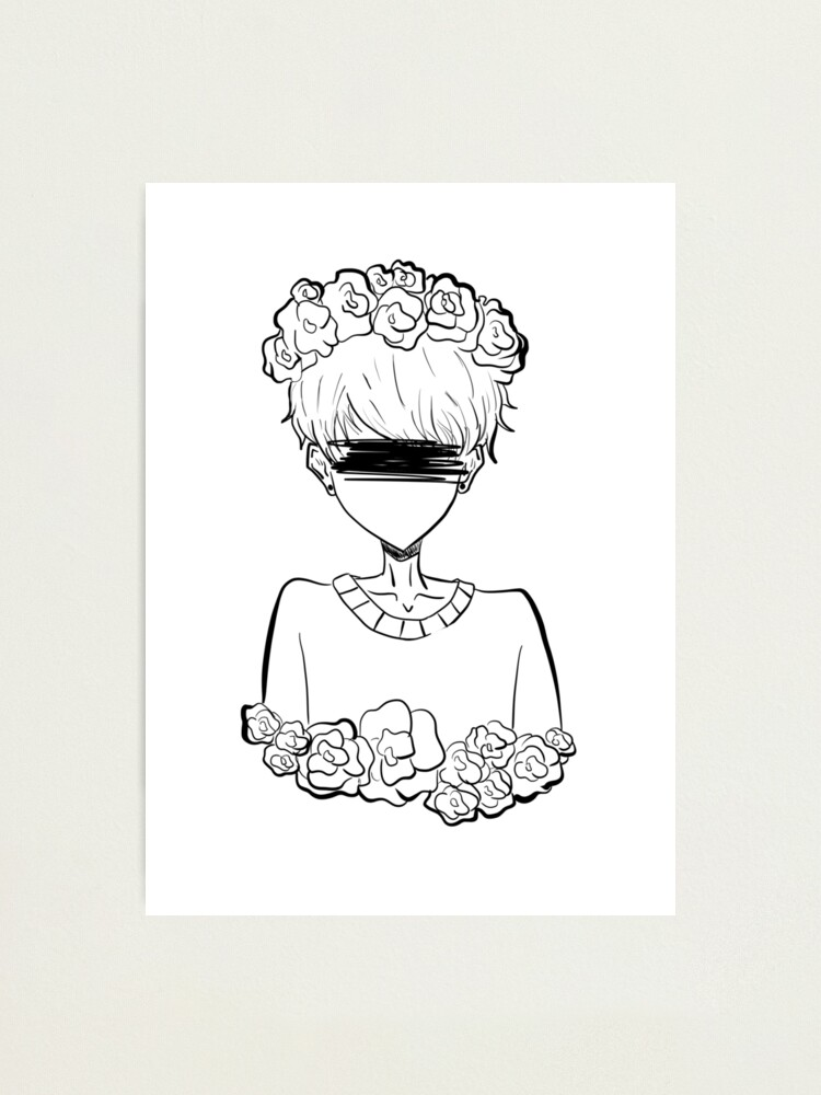 Alternate view of Aesthetic Tumblr Rose Boy Photographic Print