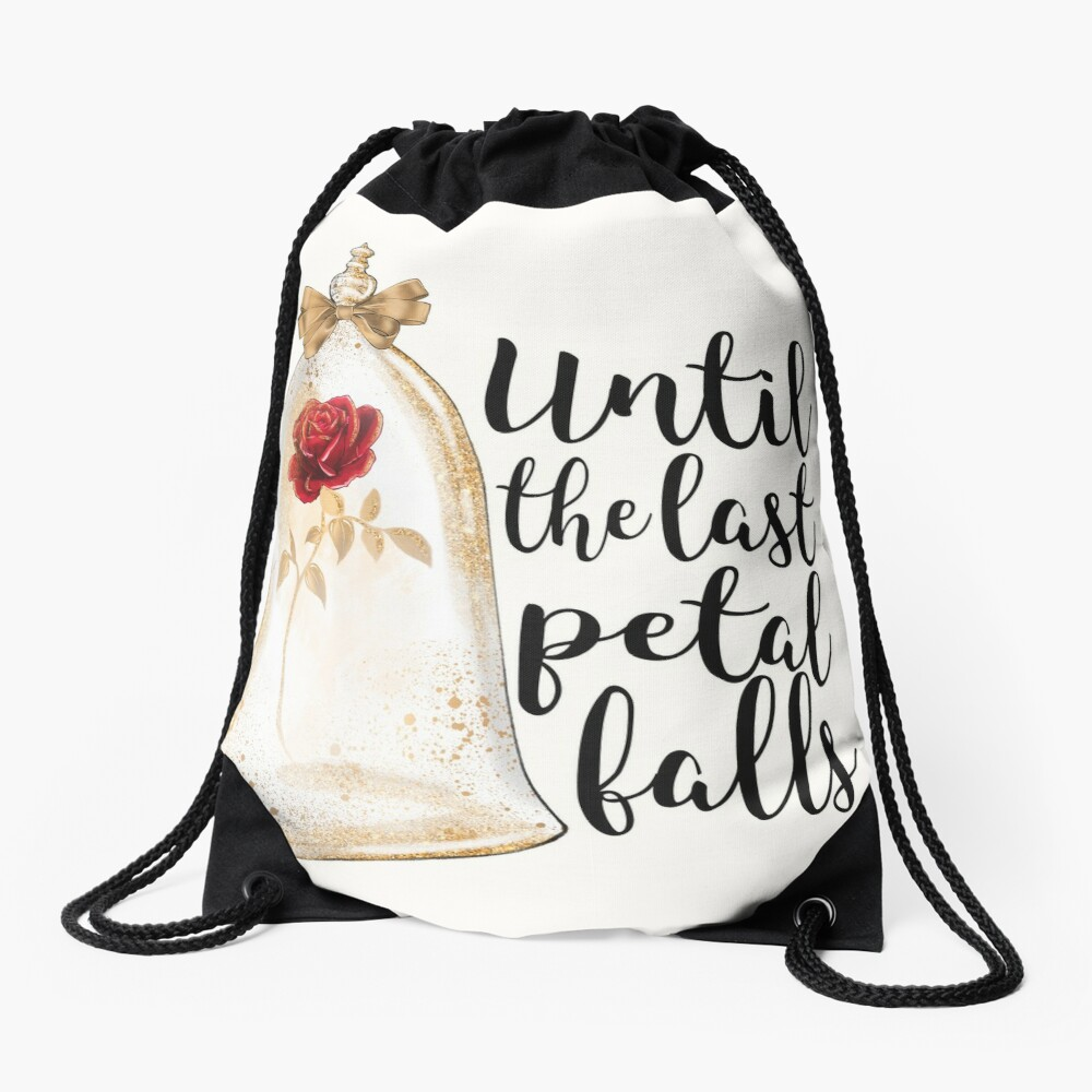 Until the last petal falls Drawstring Bag