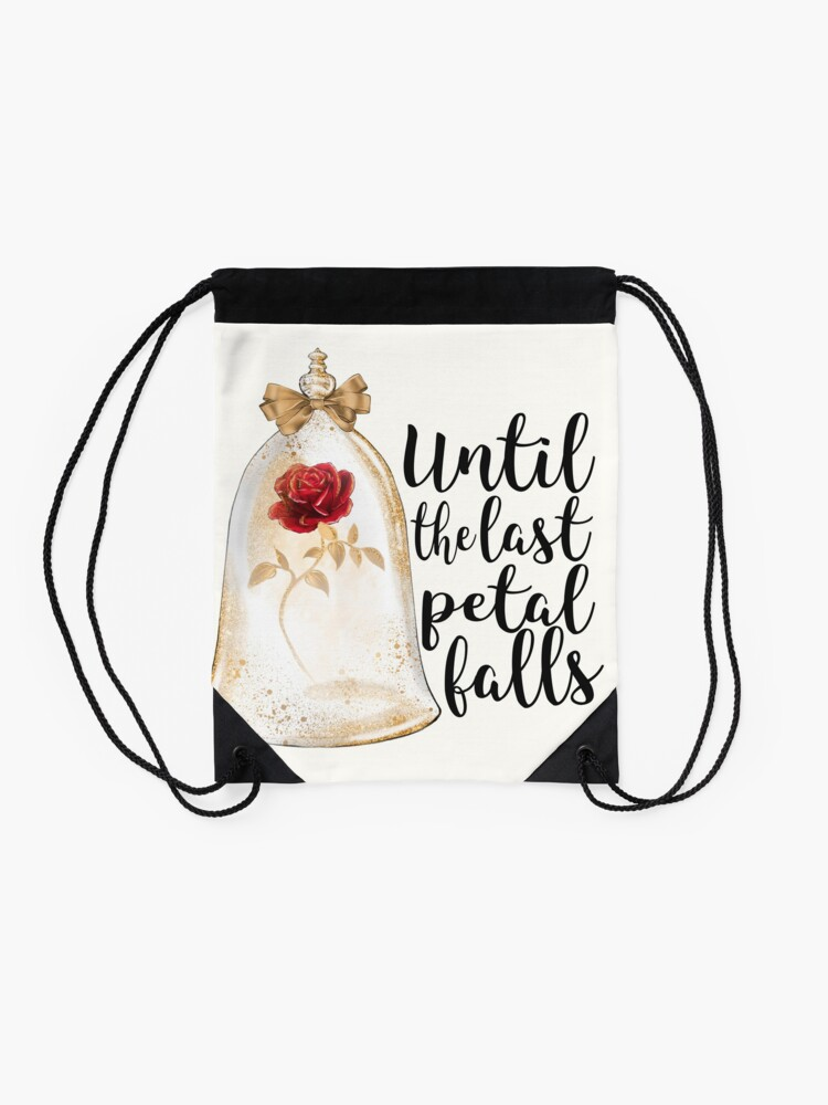 Alternate view of Until the last petal falls Drawstring Bag