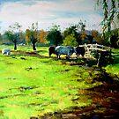 Green Meadow by Artist Daniel Wall by Daniel Wall