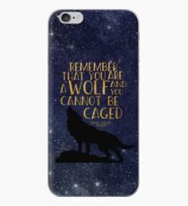 Remember that you are a wolf and you cannot be caged iPhone Case
