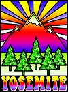 YOSEMITE NATIONAL PARK CALIFORNIA 70'S STYLE HIPPIE CAMPING OUTDOORS NATURE HIKING 4 by MyHandmadeSigns