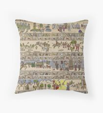 Eight Outlandish Panels (Gabeaux Tapestry)  Throw Pillow