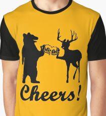 Bear, deer, beer, & cheers Graphic T-Shirt