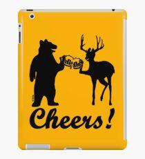Bear, deer, beer, & cheers iPad Case/Skin