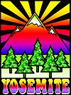YOSEMITE NATIONAL PARK CALIFORNIA 70'S STYLE HIPPIE CAMPING OUTDOORS NATURE HIKING 5 by MyHandmadeSigns