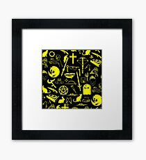 Buffy Symbology - Yellow Framed Print