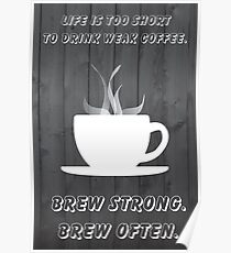 Simplistic Coffee Decal Poster