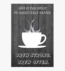 Simplistic Coffee Decal Photographic Print