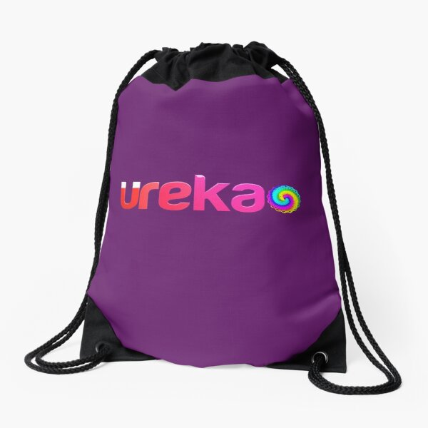 ureka: earth heart community - logo Drawstring Bag