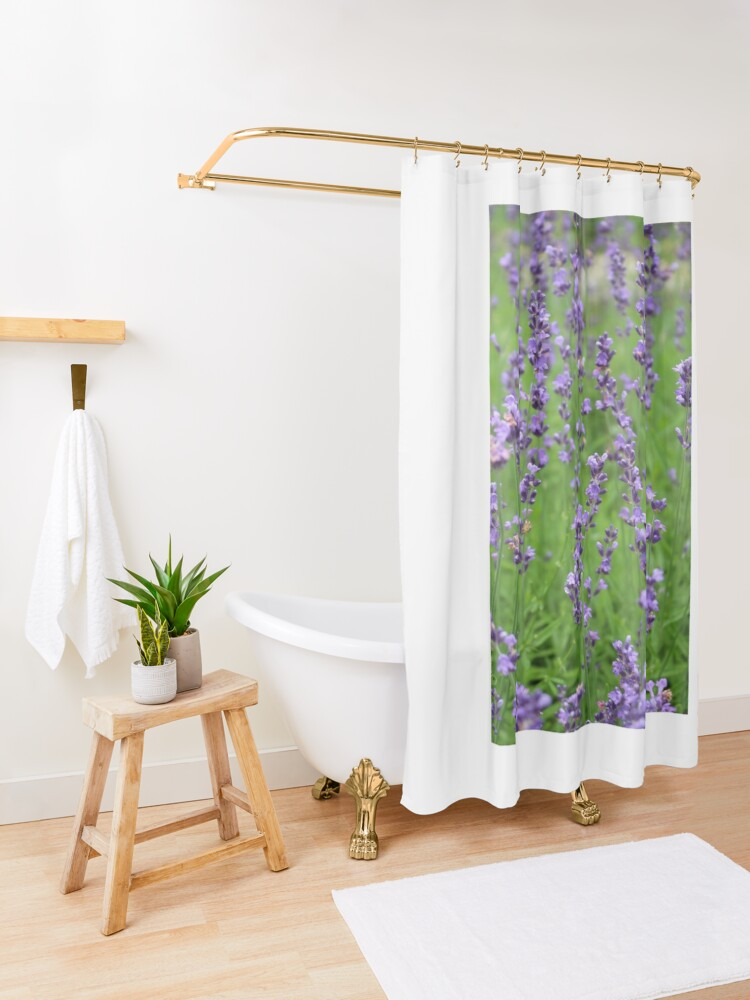 Alternate view of lavender dreams Shower Curtain