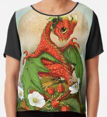 Strawberry Dragon Chiffon Top