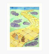 The Wizard of Fluff Art Print