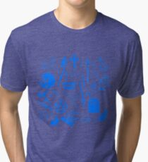 Buffy Symbology - Blue Tri-blend T-Shirt