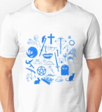 Buffy Symbology - Blue T-Shirt