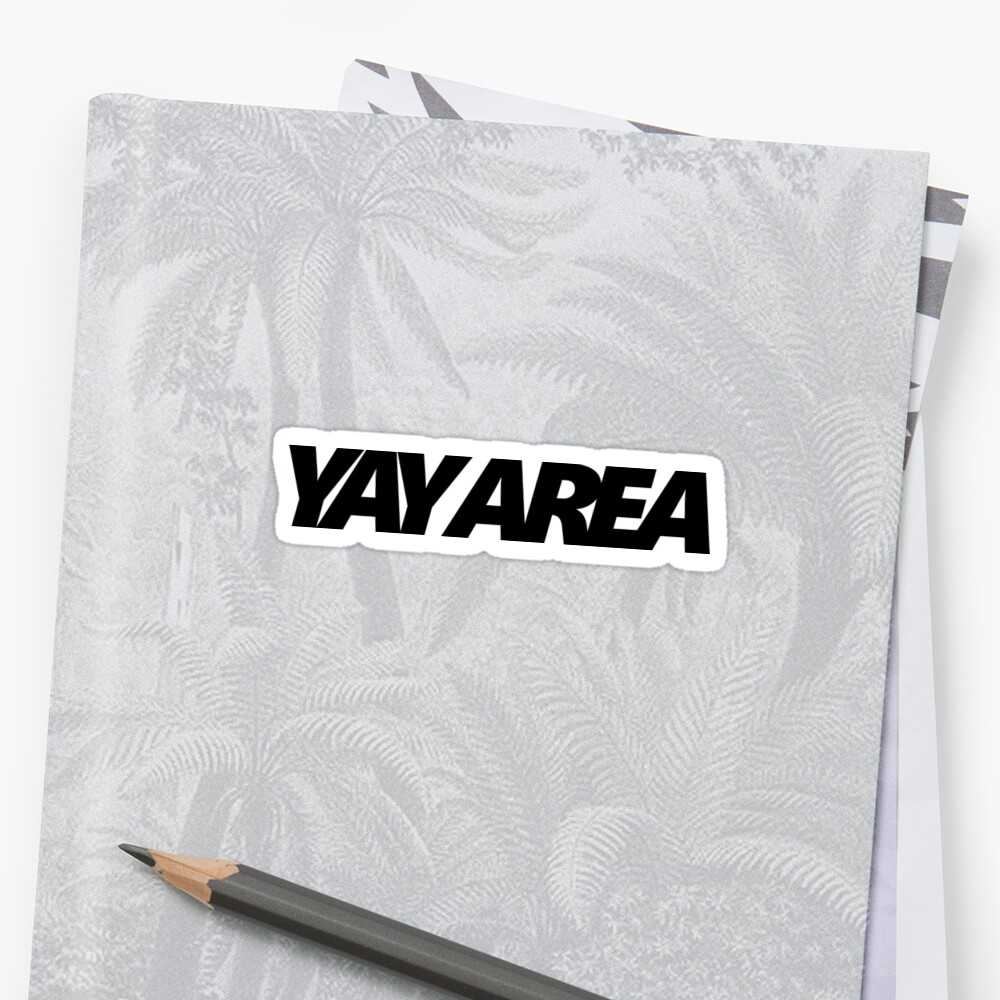 Yay Area Pegatina