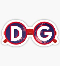 DG Red Sunglasses Sticker
