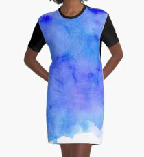 Watercolor Ocean Waves Graphic T-Shirt Dress