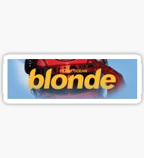 Blonde Logo Box V2 (Blue accessories available) Sticker