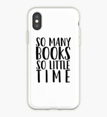 So many books so little time - white iPhone Case
