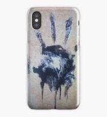 Black hand iPhone Case