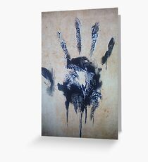 Black hand Greeting Card