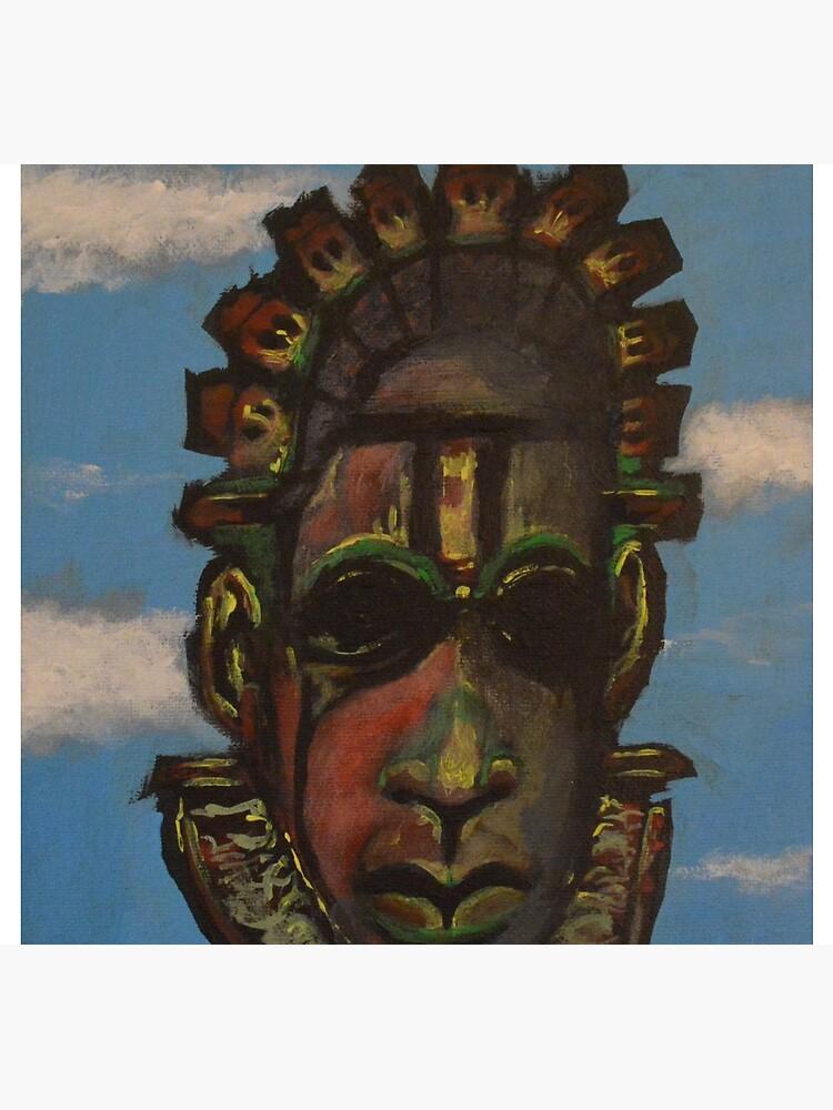 Máscara de Benin de AkilRoperArt