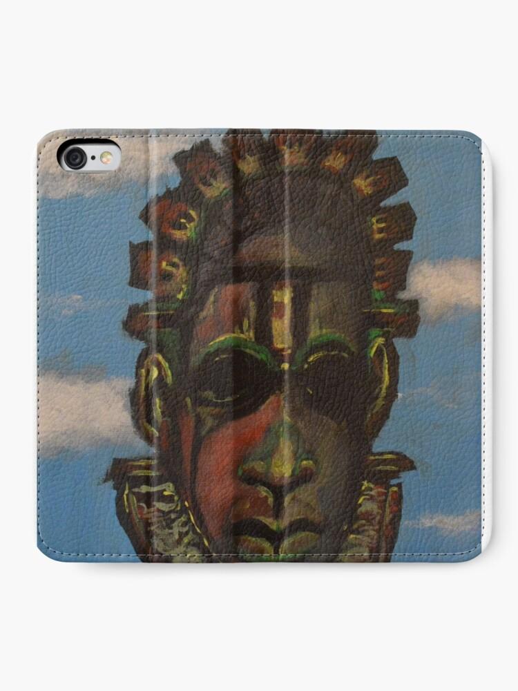 Vista alternativa de Fundas tarjetero para iPhone Máscara de Benin
