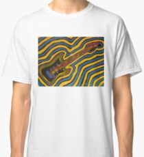 Psychedelic Guitar Finger Painted MKART Classic T-Shirt