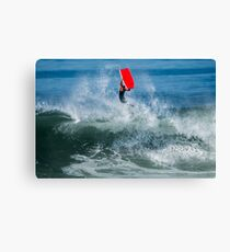 Bodyboarder in action Canvas Print