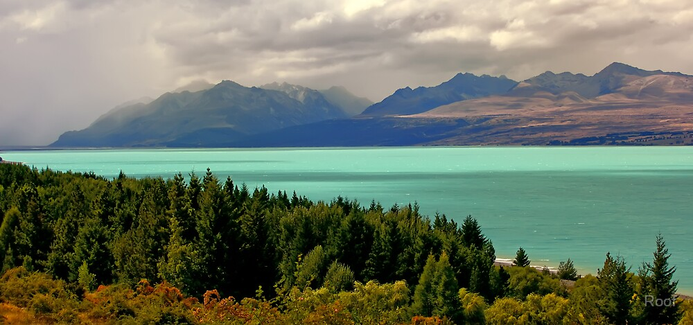 Turquoise Lake by Roof