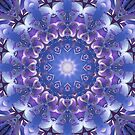Deep Blue and Purple Mandala by Kelly Dietrich