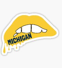Michigan Lippen Sticker