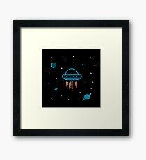 Cool UFO Sci Fi Space  Framed Print