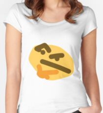 thinking emoji Women's Fitted Scoop T-Shirt